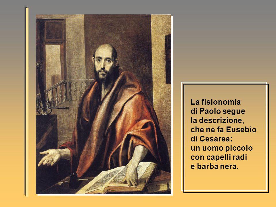 La fisionomia di Paolo segue la descrizione, che ne fa Eusebio di Cesarea: un uomo piccolo con capelli radi e barba nera.