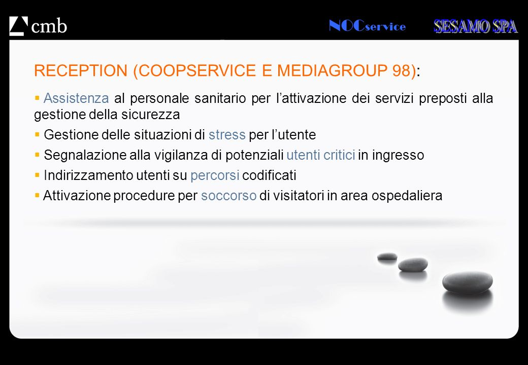 RECEPTION (COOPSERVICE E MEDIAGROUP 98):