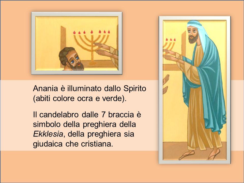 Anania è illuminato dallo Spirito (abiti colore ocra e verde).