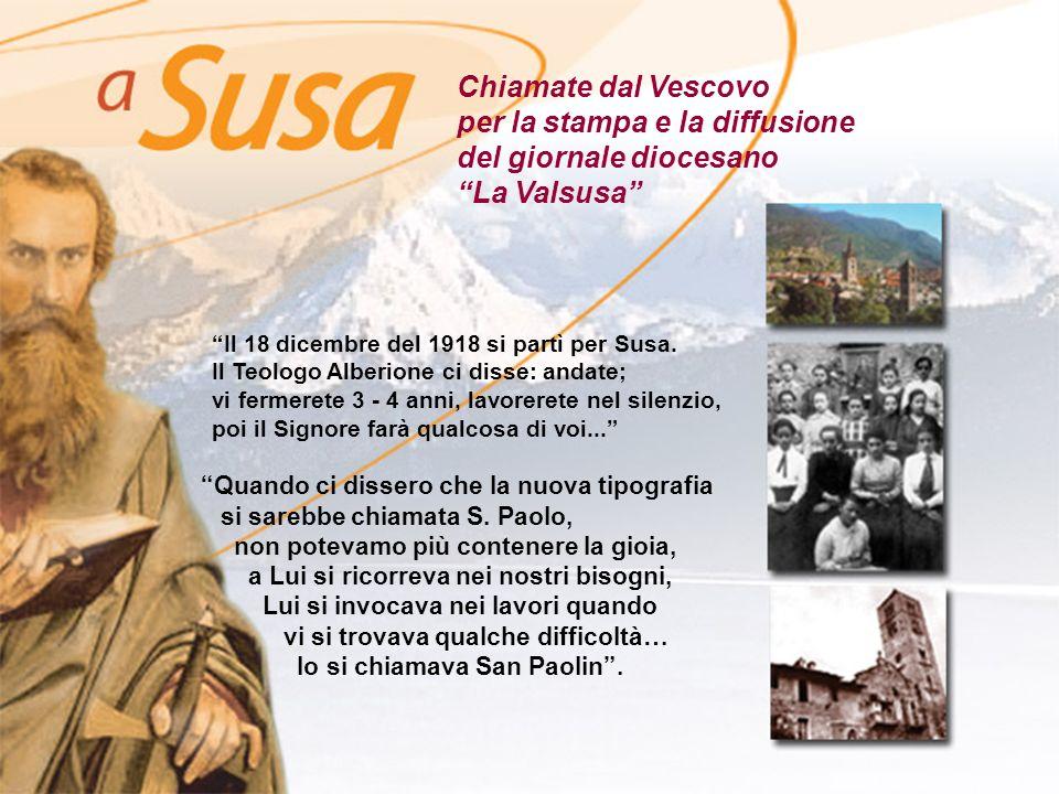 per la stampa e la diffusione del giornale diocesano La Valsusa