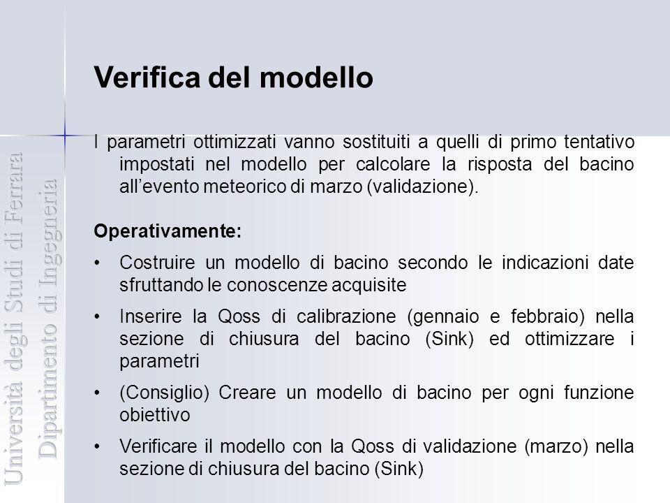Verifica del modello Università degli Studi di Ferrara
