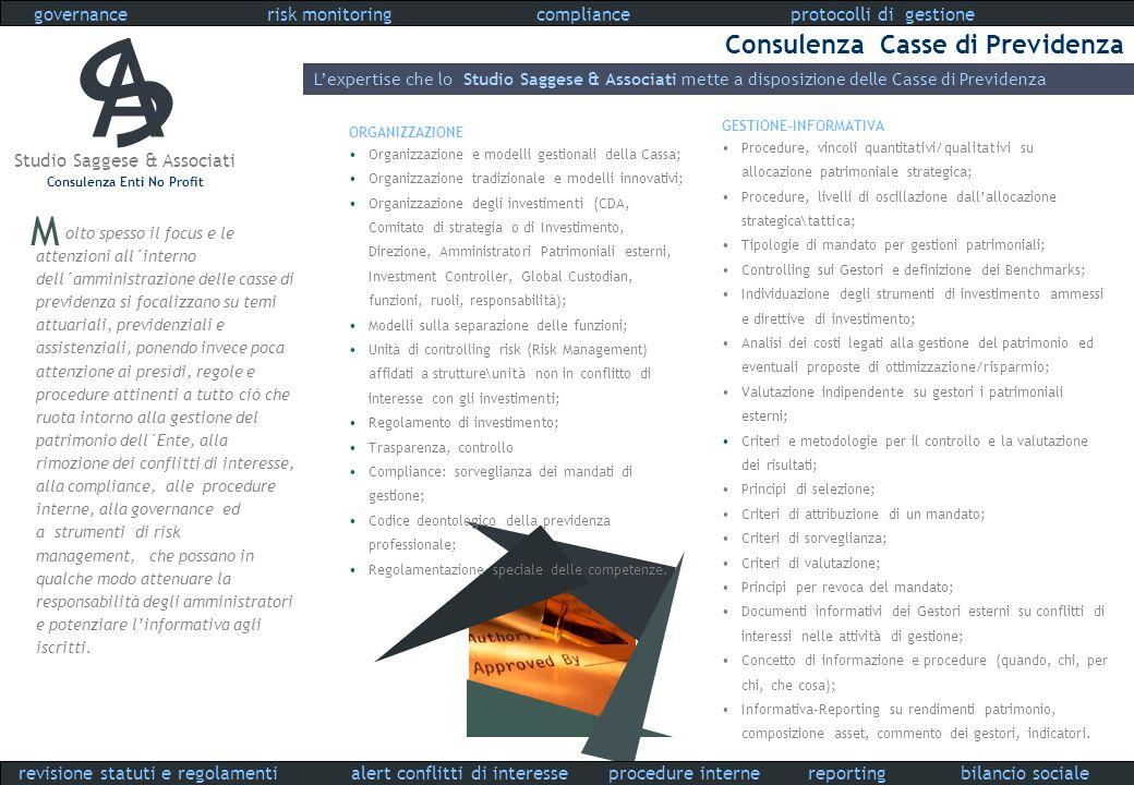 A S M Consulenza Casse di Previdenza governance risk monitoring