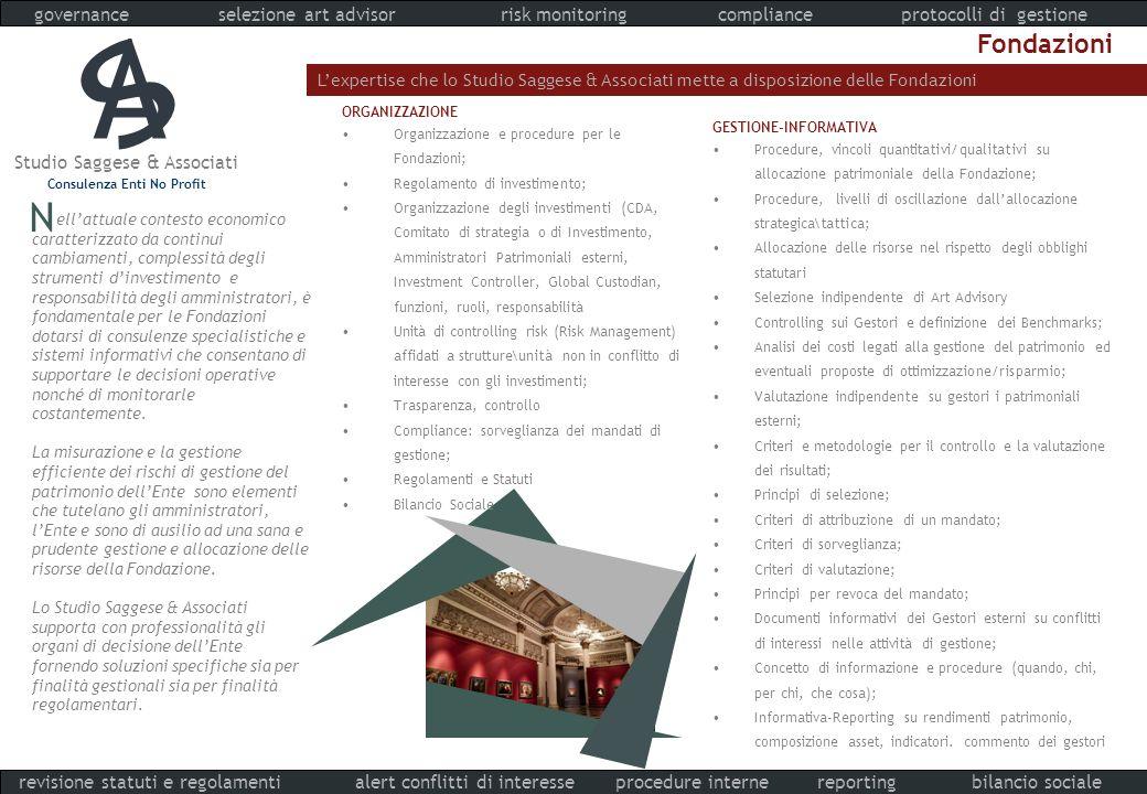 A S N Fondazioni governance selezione art advisor risk monitoring