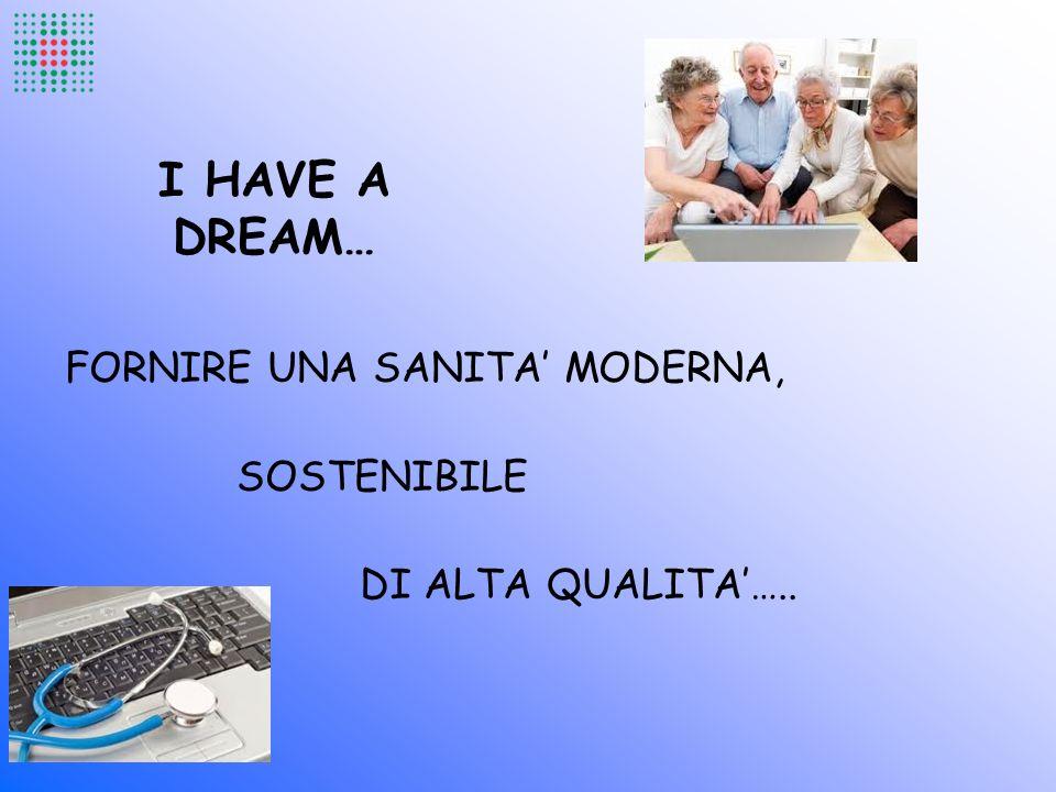 I HAVE A DREAM… FORNIRE UNA SANITA' MODERNA, SOSTENIBILE