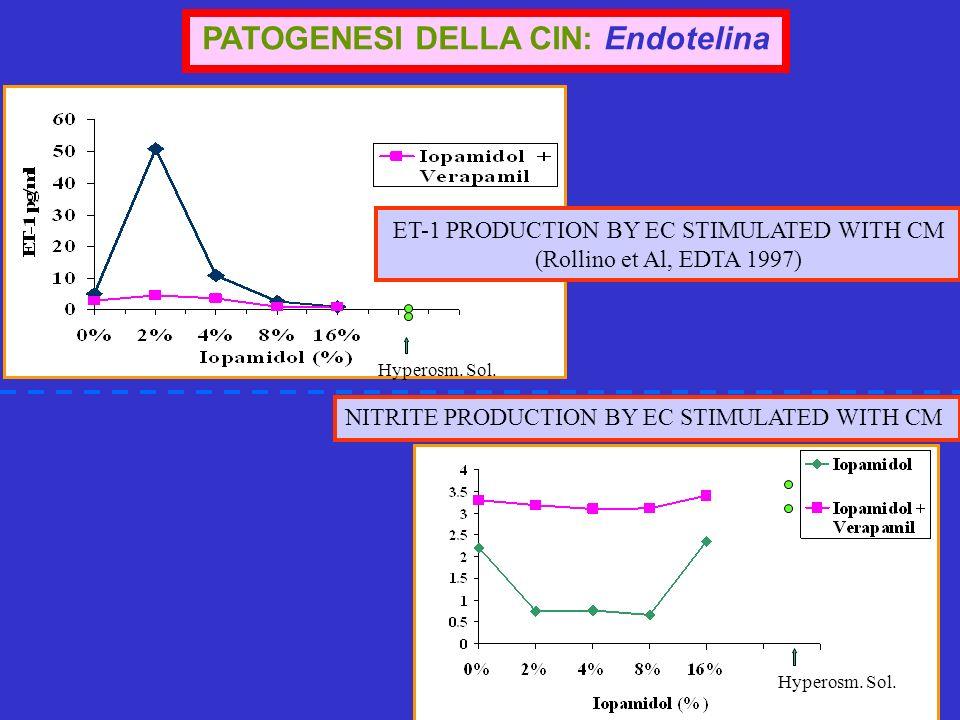 PATOGENESI DELLA CIN: Endotelina