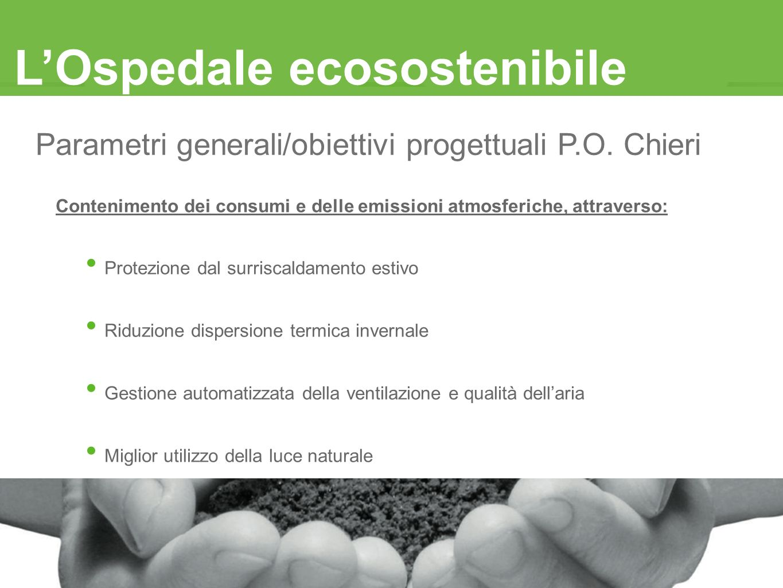 Parametri generali/obiettivi progettuali P.O. Chieri