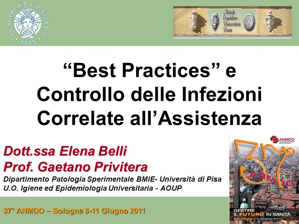 Best Practices e Controllo delle Infezioni Correlate all'Assistenza
