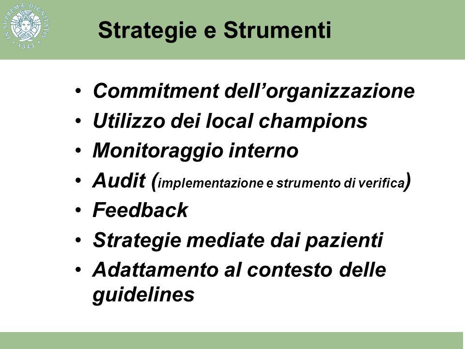 Strategie e Strumenti Commitment dell'organizzazione