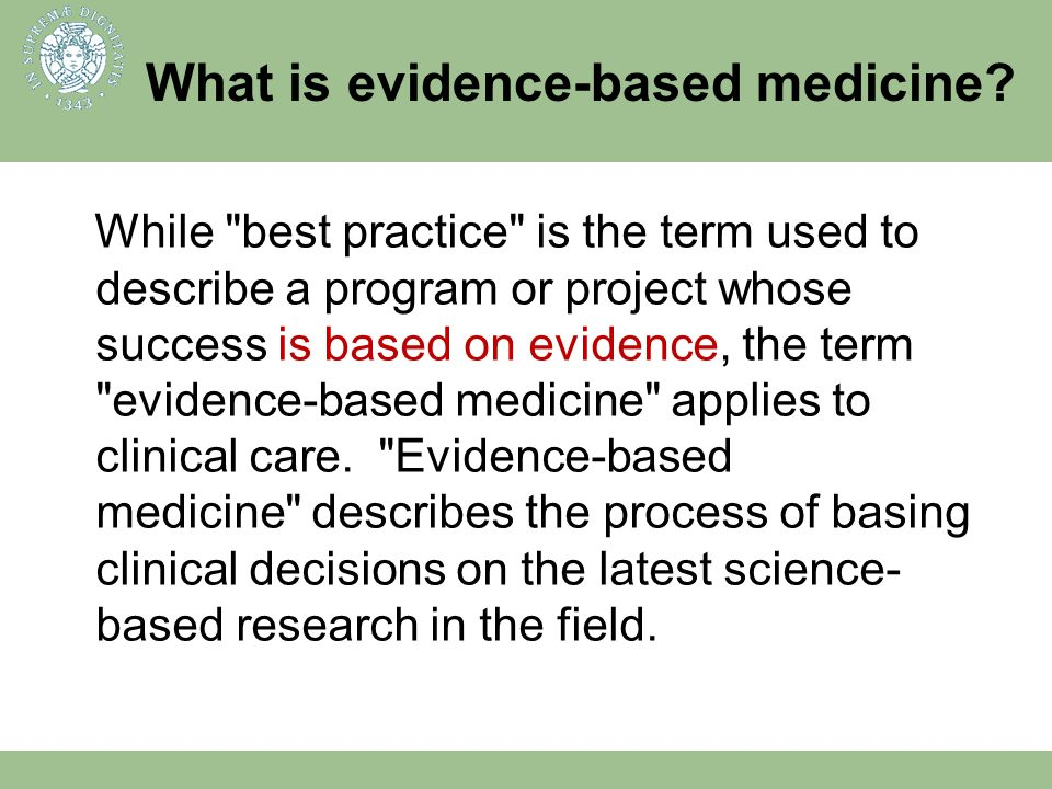 What is evidence-based medicine