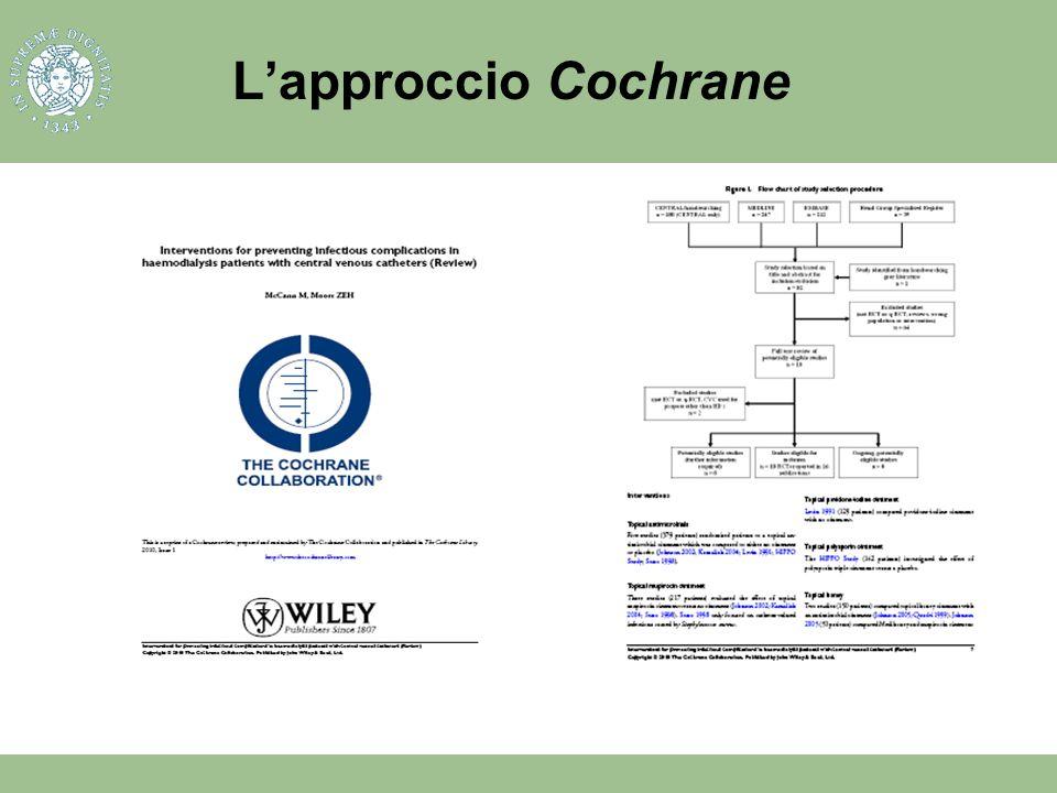 L'approccio Cochrane