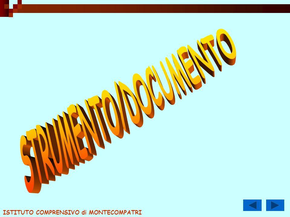 STRUMENTO/DOCUMENTO ISTITUTO COMPRENSIVO di MONTECOMPATRI