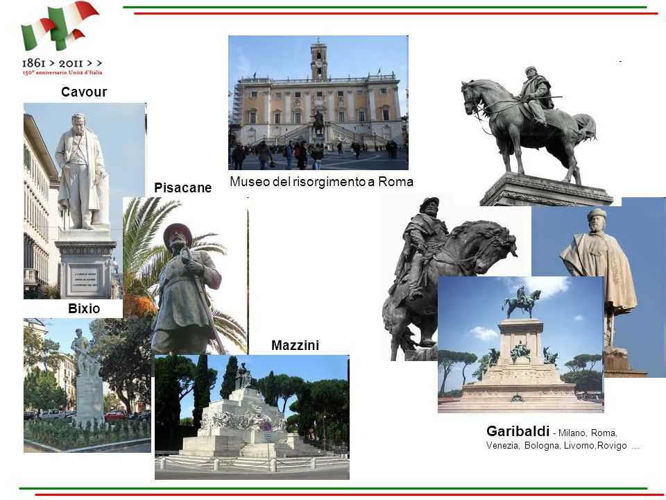 Garibaldi - Milano, Roma, Venezia, Bologna, Livorno,Rovigo …