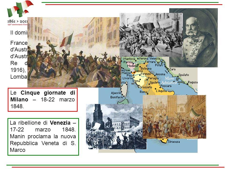 Il dominio austriaco … Francesco Giuseppe I d Austria, Imperatore d Austria (1848-1916) e Re d Ungheria (1867-1916), oltre che re del Lombardo-Veneto.
