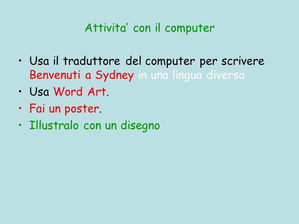 Attivita' con il computer