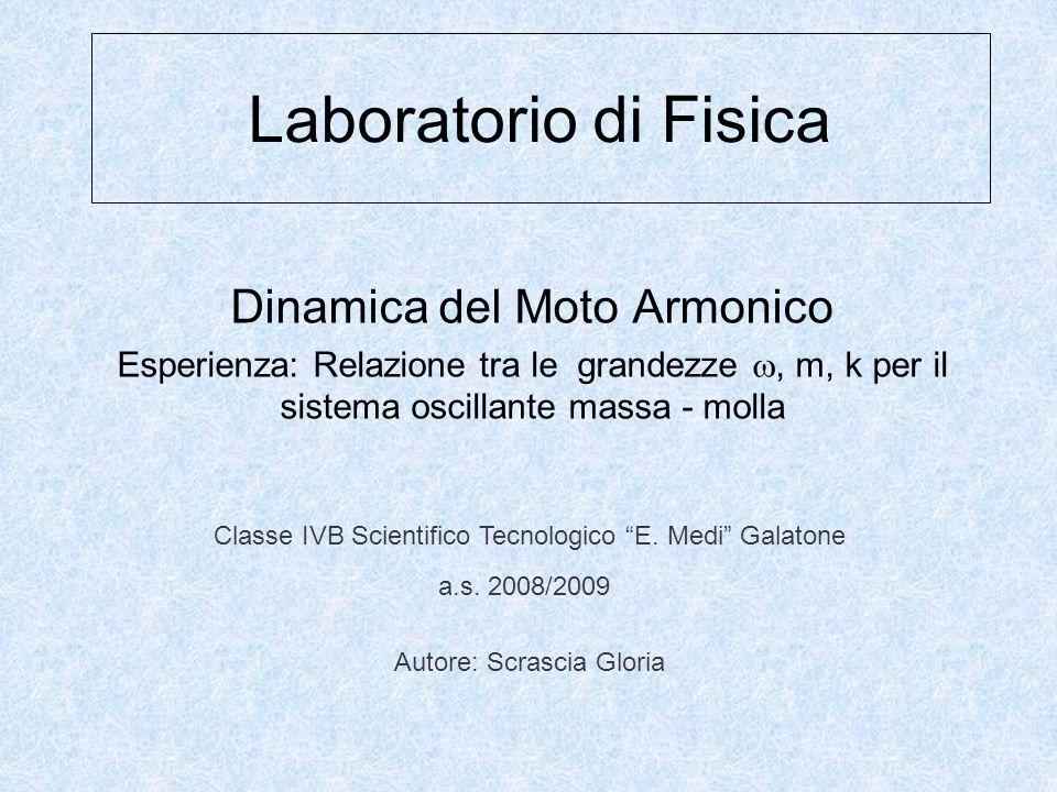 Laboratorio di Fisica Dinamica del Moto Armonico