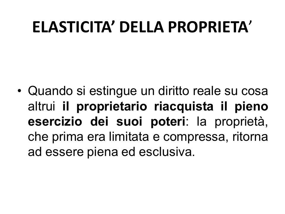 ELASTICITA' DELLA PROPRIETA'