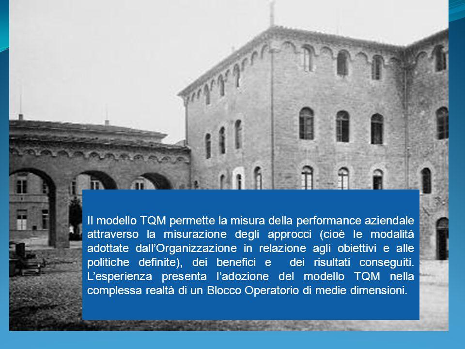 Il modello TQM permette la misura della performance aziendale attraverso la misurazione degli approcci (cioè le modalità adottate dall'Organizzazione in relazione agli obiettivi e alle politiche definite), dei benefici e dei risultati conseguiti.