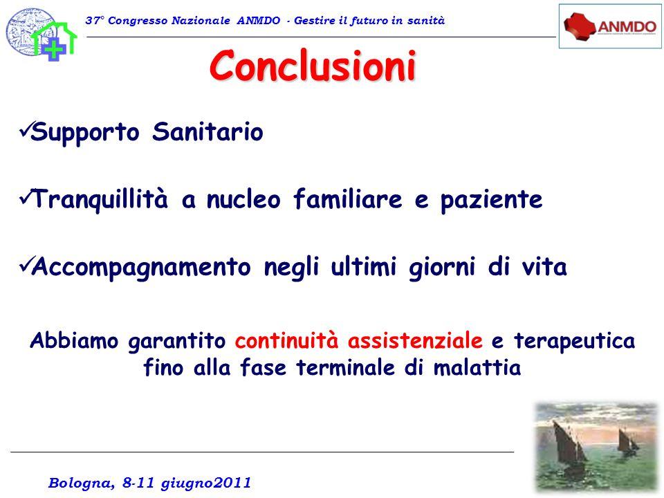 Conclusioni Supporto Sanitario