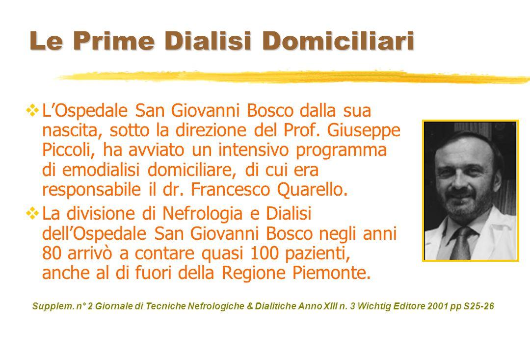 Le Prime Dialisi Domiciliari