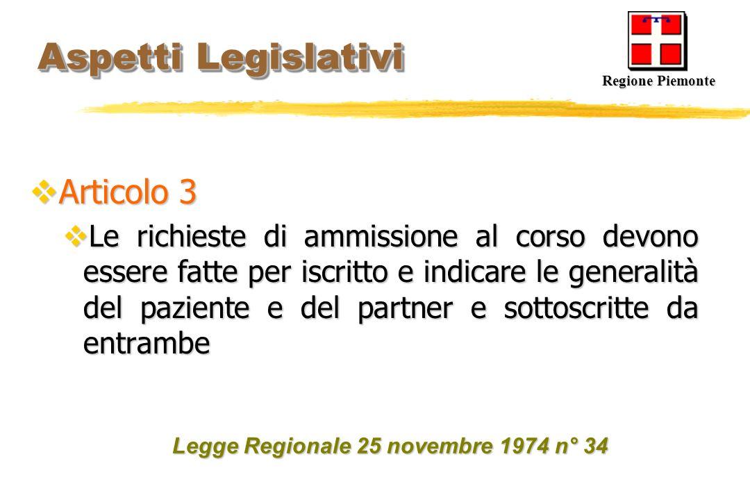 Aspetti Legislativi Articolo 3