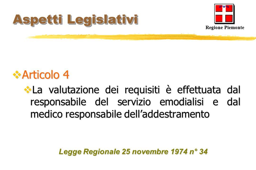 Aspetti Legislativi Articolo 4