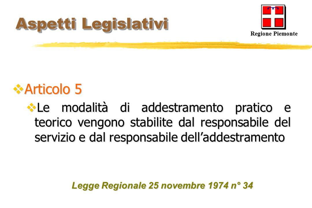 Aspetti Legislativi Articolo 5