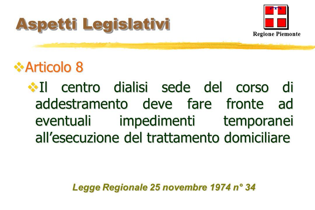 Aspetti Legislativi Articolo 8