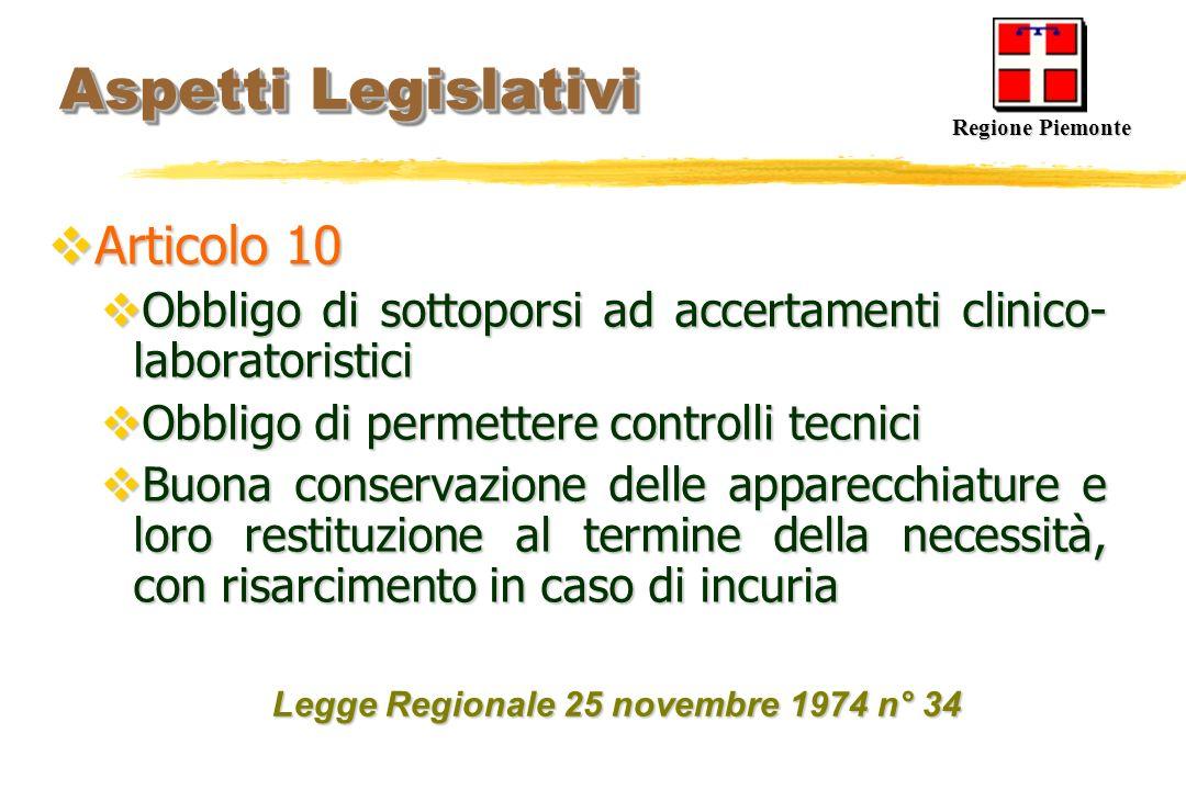 Aspetti Legislativi Articolo 10