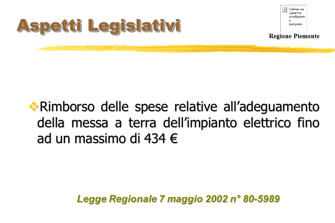 Aspetti Legislativi Regione Piemonte.