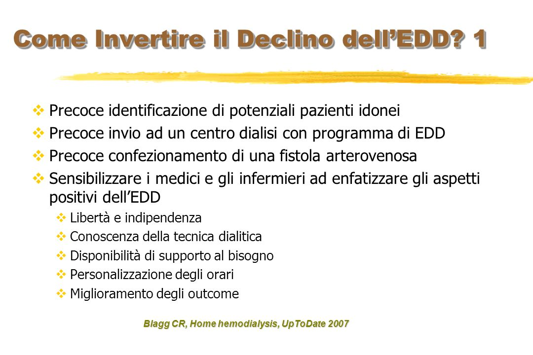 Come Invertire il Declino dell'EDD 1