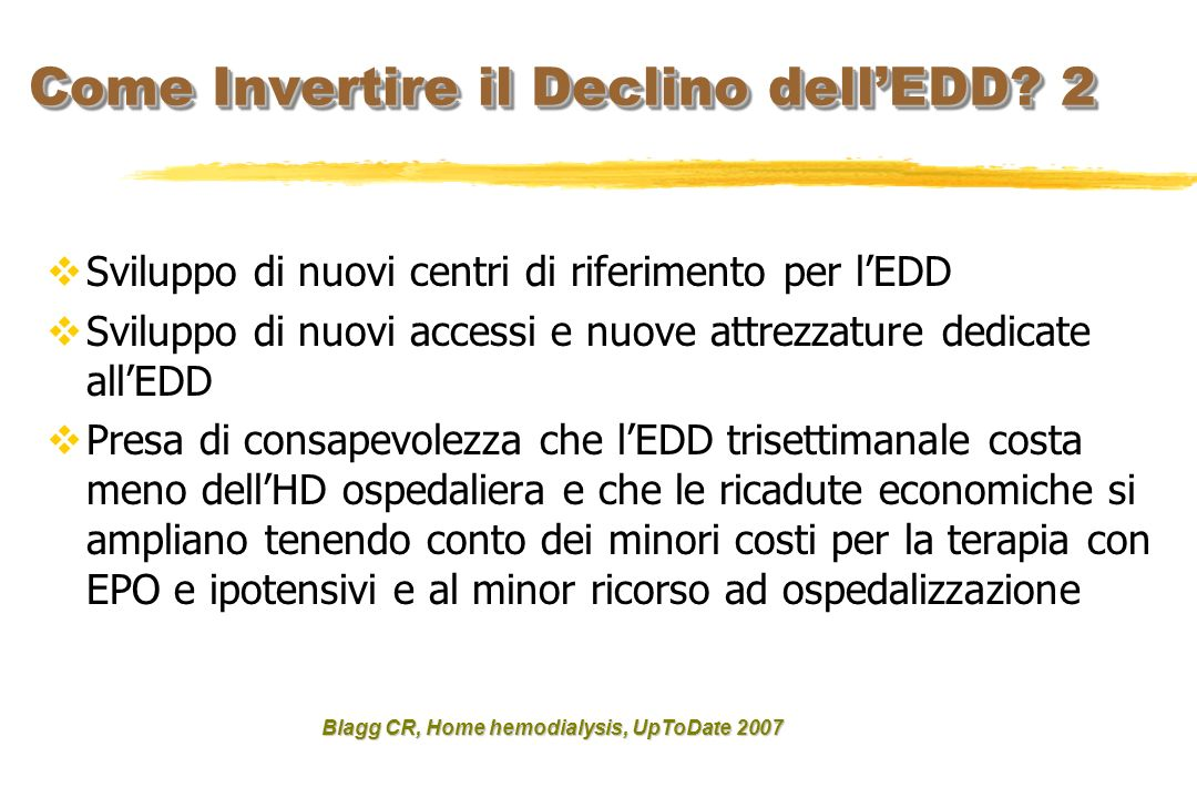 Come Invertire il Declino dell'EDD 2
