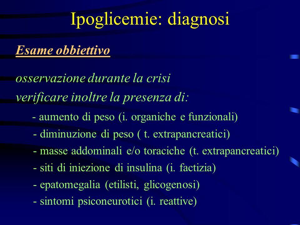 Ipoglicemie: diagnosi