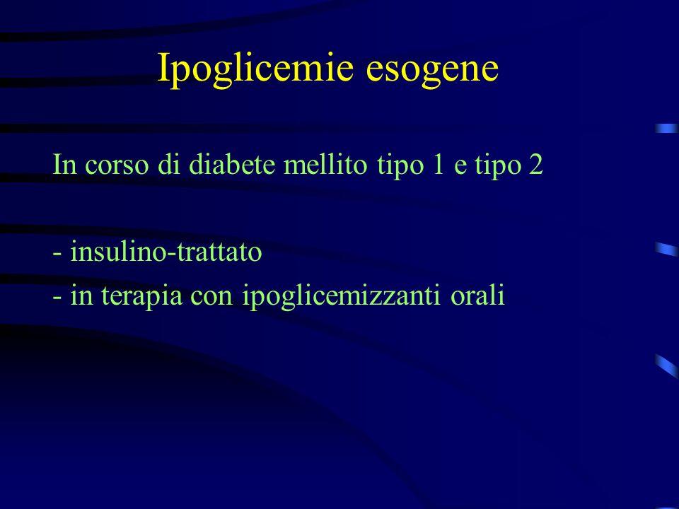 Ipoglicemie esogene In corso di diabete mellito tipo 1 e tipo 2
