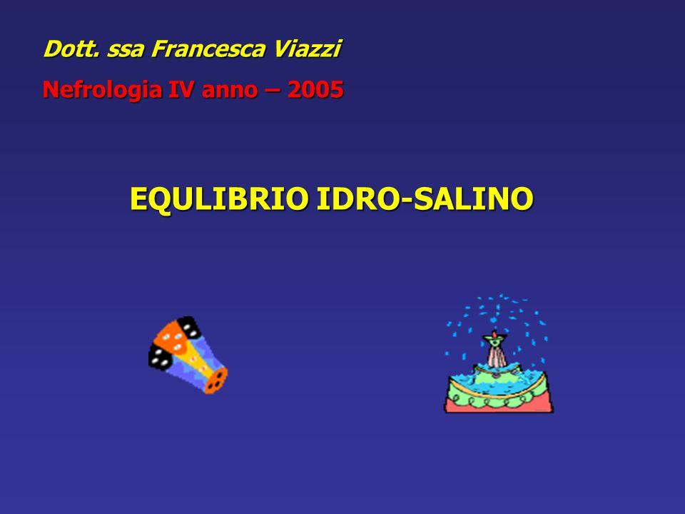 EQULIBRIO IDRO-SALINO