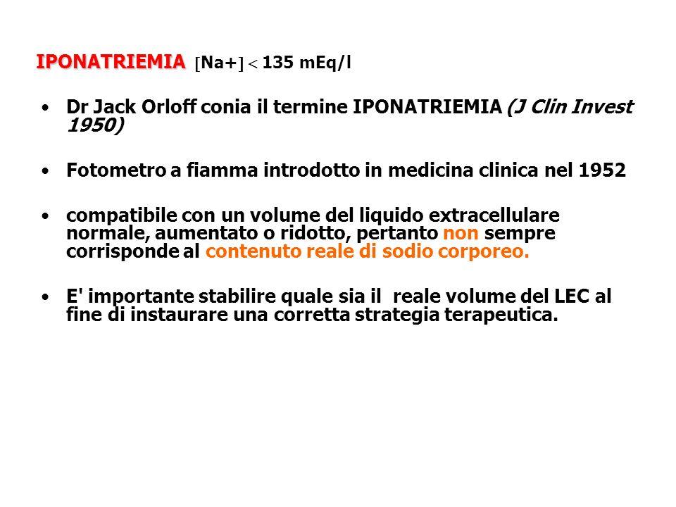 IPONATRIEMIA Na+  135 mEq/l