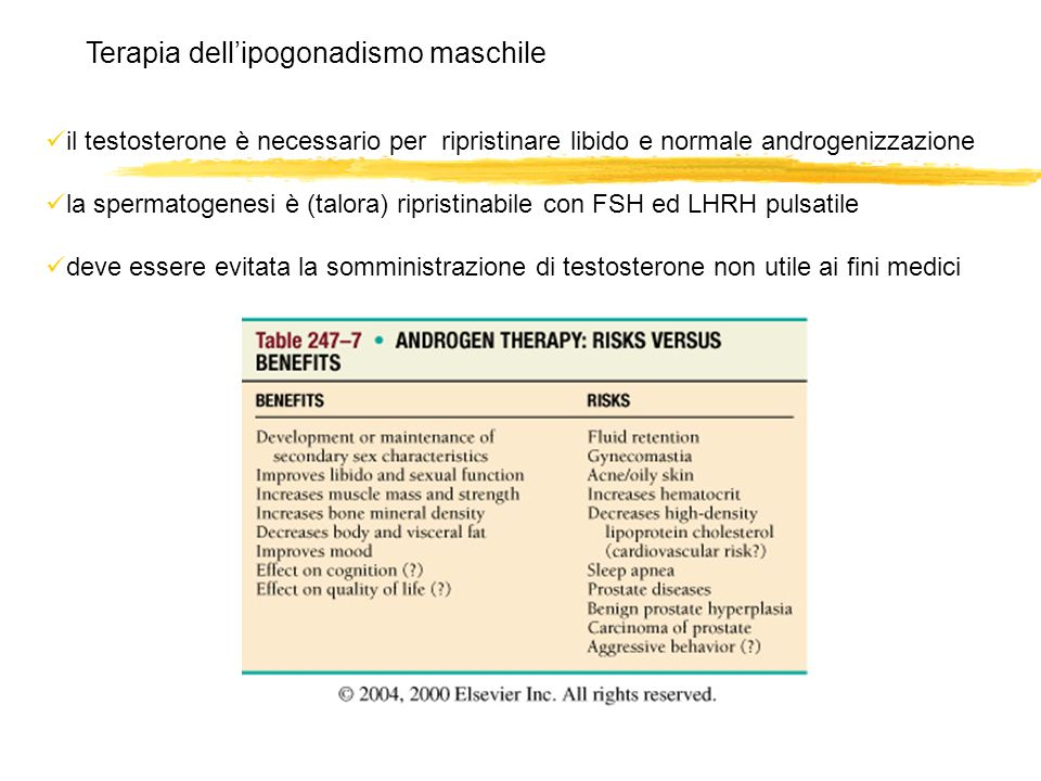Terapia dell'ipogonadismo maschile