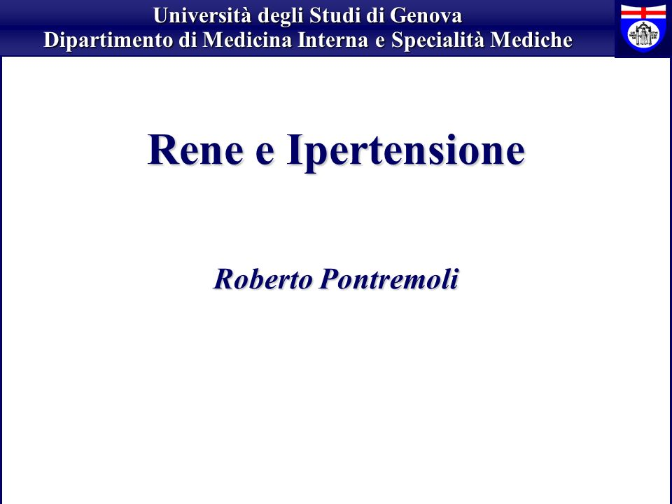Rene e Ipertensione Roberto Pontremoli