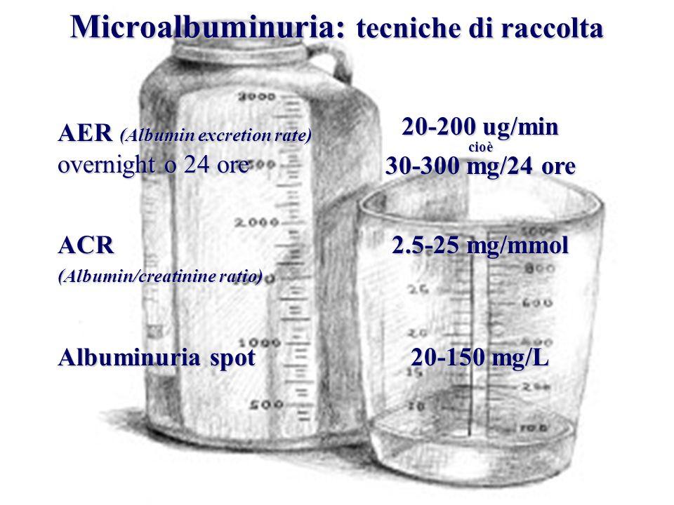 Microalbuminuria: tecniche di raccolta