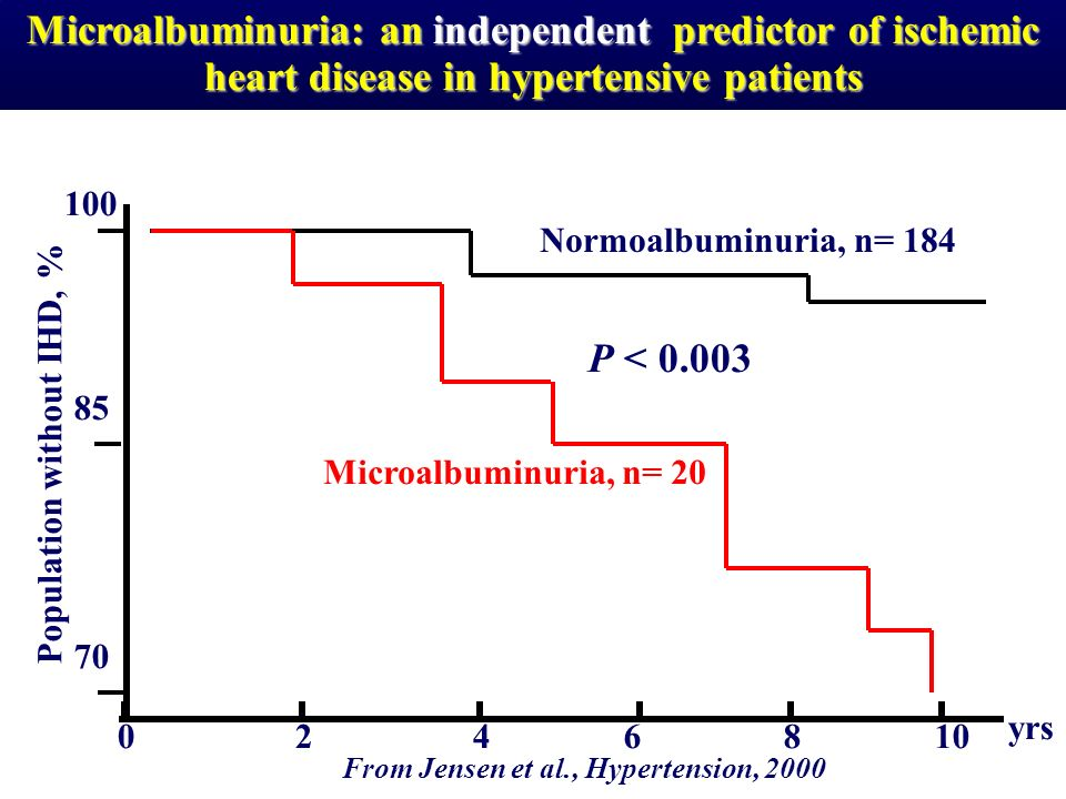 Microalbuminuria: an independent predictor of ischemic heart disease in hypertensive patients