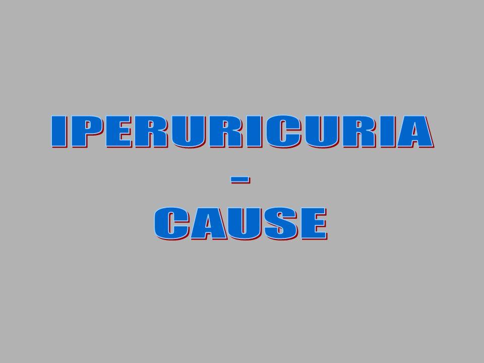 IPERURICURIA - CAUSE
