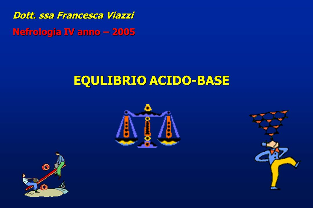 EQULIBRIO ACIDO-BASE Dott. ssa Francesca Viazzi