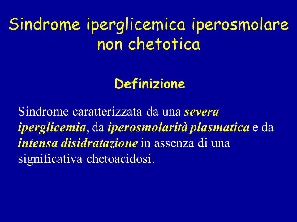 Sindrome iperglicemica iperosmolare non chetotica
