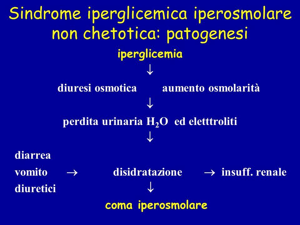 Sindrome iperglicemica iperosmolare non chetotica: patogenesi