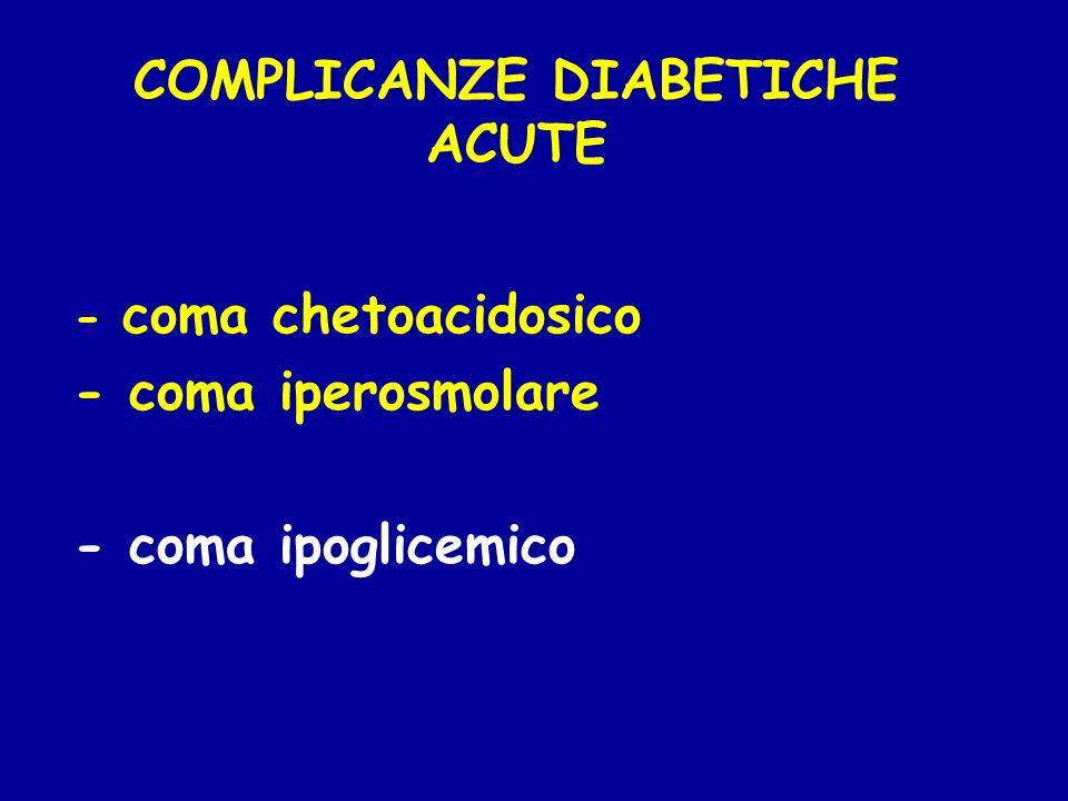 COMPLICANZE DIABETICHE ACUTE