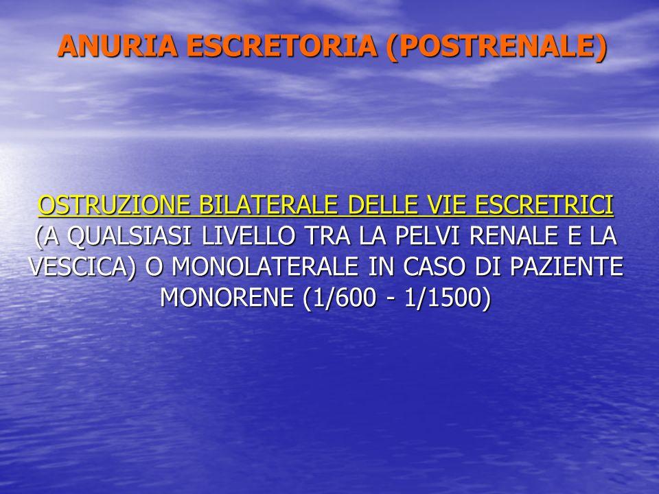 ANURIA ESCRETORIA (POSTRENALE)
