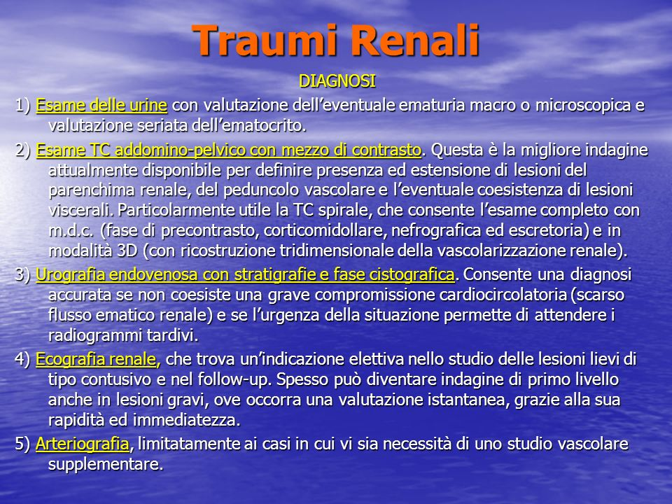Traumi Renali DIAGNOSI