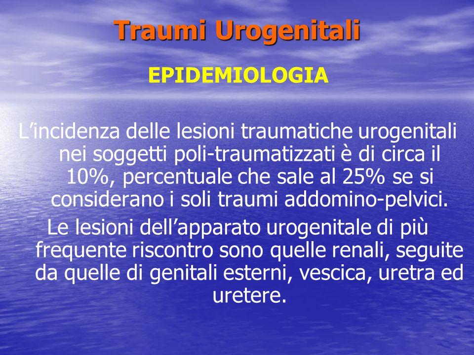 Traumi Urogenitali EPIDEMIOLOGIA