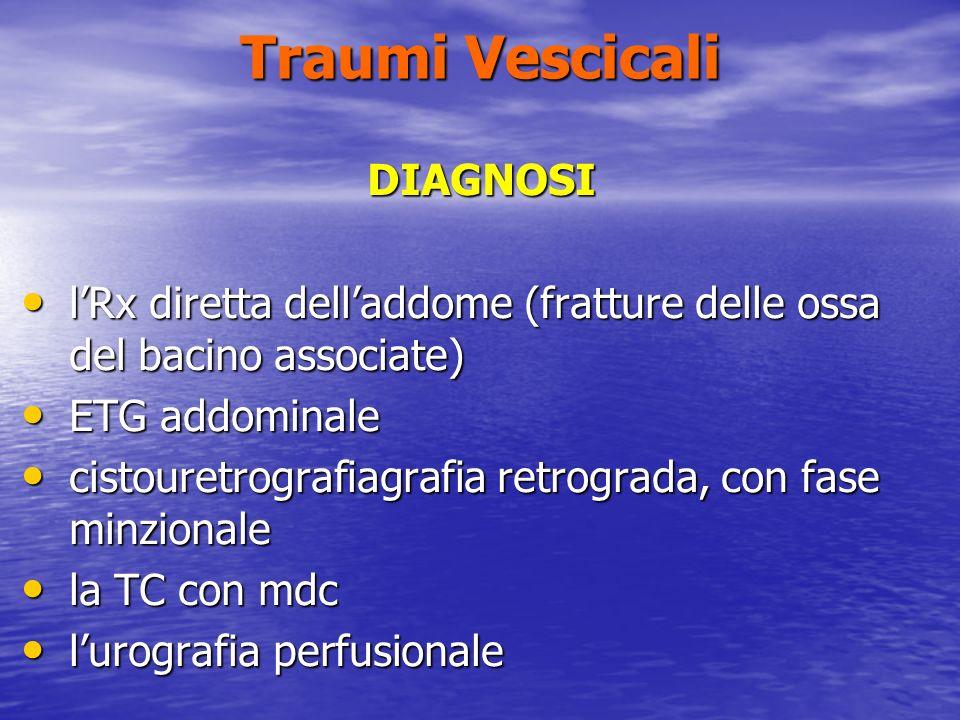 Traumi Vescicali DIAGNOSI
