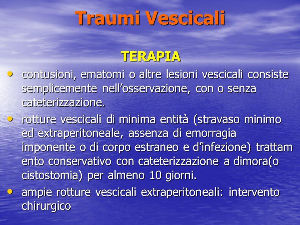 Traumi Vescicali TERAPIA