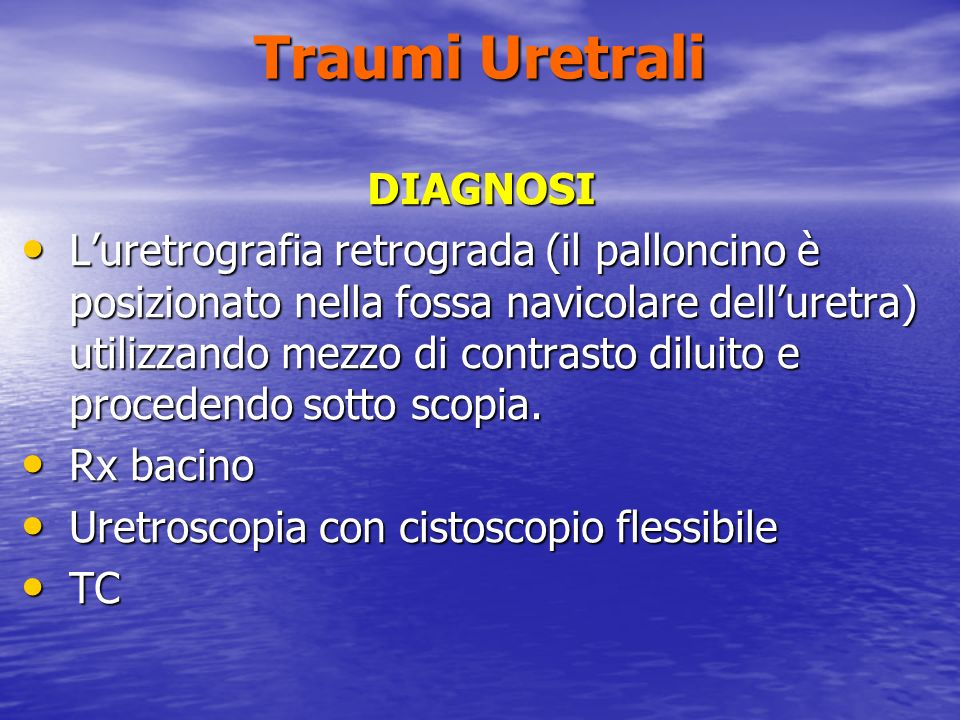Traumi Uretrali DIAGNOSI